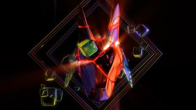 Cracked Anubis Head VJ Loop: Stock Motion Graphics