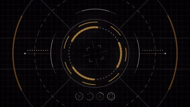 Futuristic Drone Interface: Stock Motion Graphics
