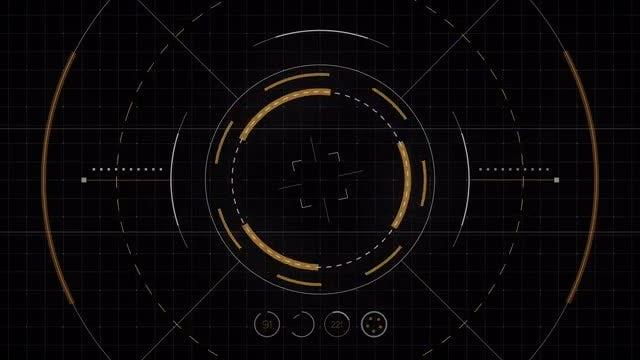 Futuristic Drone Interface: Stock Motion Graphics