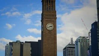 Clock Tower Museum Of Brisbane : Stock Footage