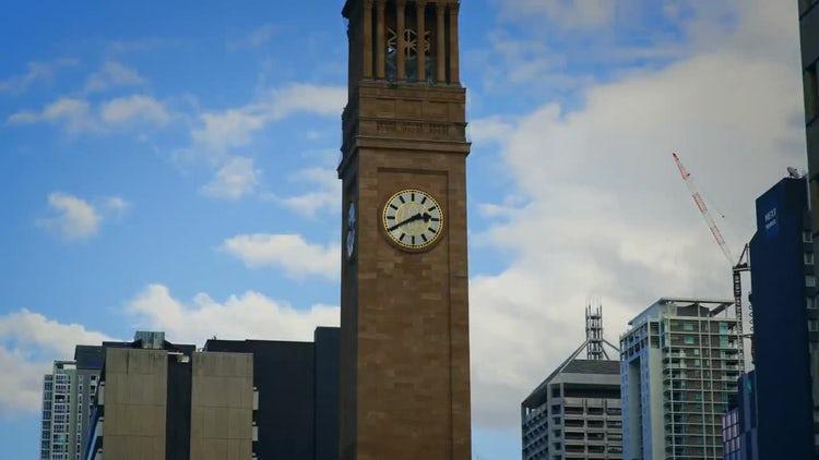 Clock Tower Museum Of Brisbane : Stock Video