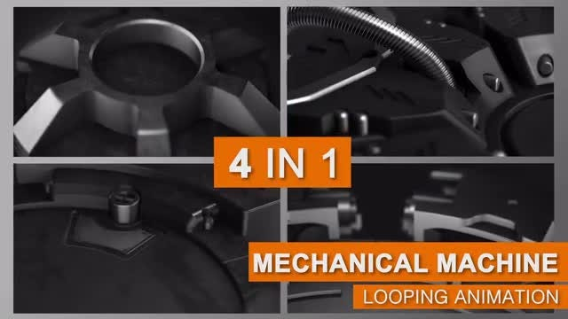 Rotating Mechanical Machine Zoom Pack: Stock Motion Graphics