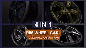 Rotating Wheel Rim Pack : Motion Graphics