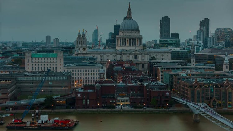 St. Paul's Cathedral In London: Stock Video