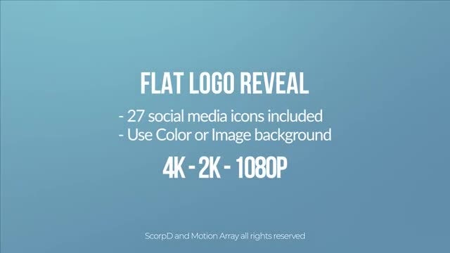 Flat Logo 4k: After Effects Templates
