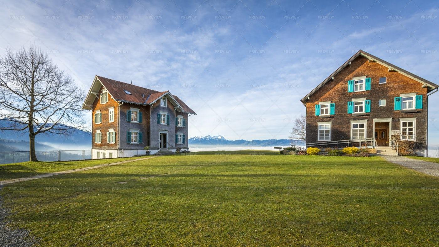Two Bildstein Houses: Stock Photos