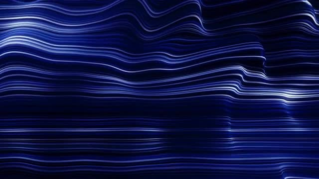 Abstract Blue Neon Wave Lines : Stock Motion Graphics