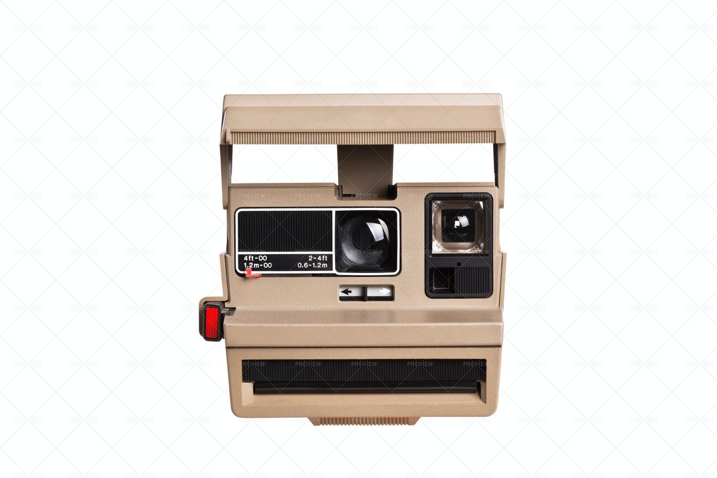 Instant Camera On White: Stock Photos