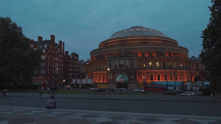 Royal Albert Hall In London: Stock Video