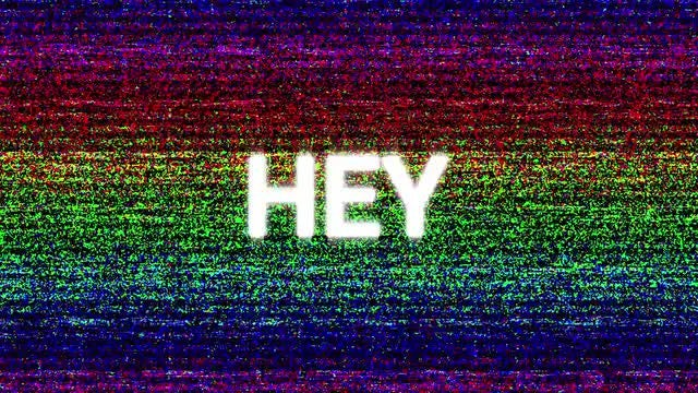 VHS Text: Stock Motion Graphics