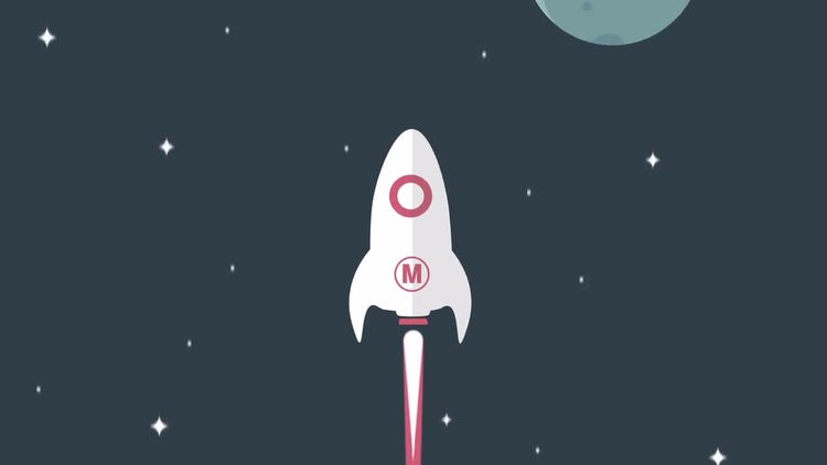 Minimal Rocket Logo: After Effects Templates