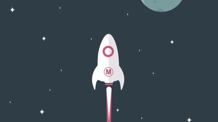 Minimal Rocket Logo: After Effects Templates