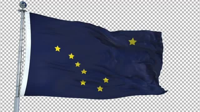 Alaska Flag: Stock Motion Graphics