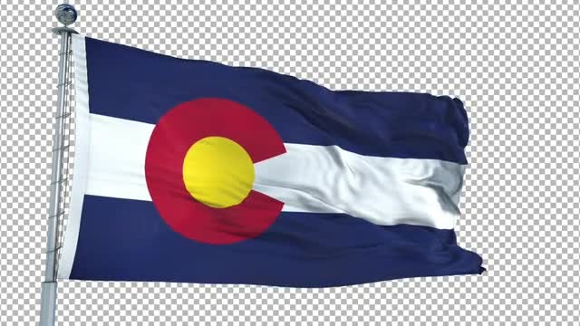 Colorado Flag Animation: Stock Motion Graphics