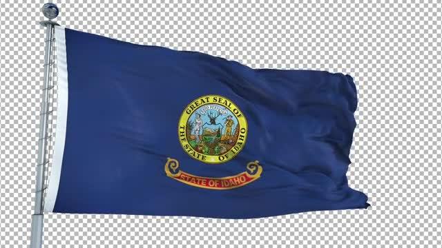 Idaho Flag: Stock Motion Graphics