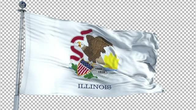 Illinois Flag Animation: Stock Motion Graphics