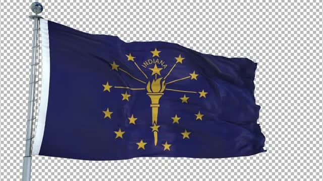 Indiana Flag: Stock Motion Graphics