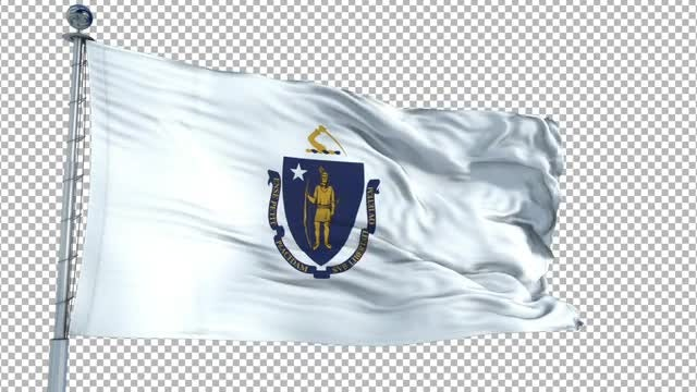 Massachusetts Flag: Stock Motion Graphics