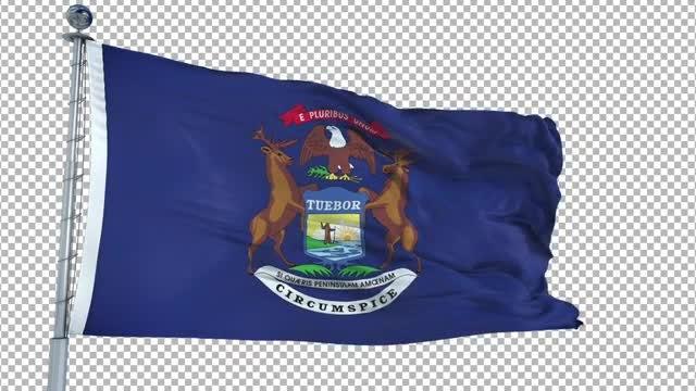 Michigan Flag: Stock Motion Graphics
