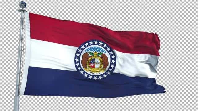Missouri Flag Animation: Stock Motion Graphics