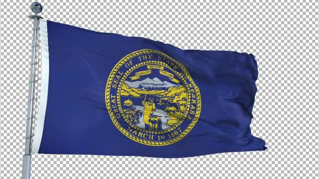 Nebraska Flag Animation: Stock Motion Graphics