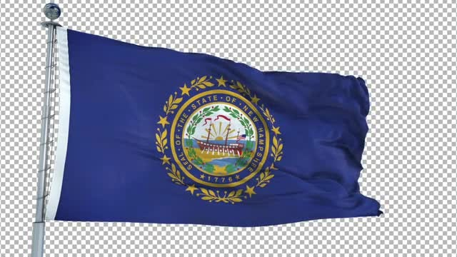 New Hampshire Flag Animation: Stock Motion Graphics