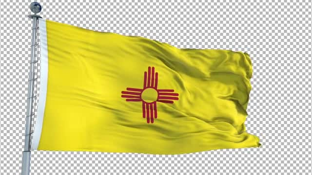 New Mexico Flag Animation: Stock Motion Graphics