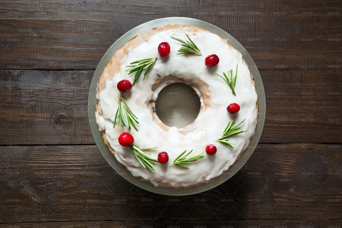 Homemade Christmas Cake: Stock Photos