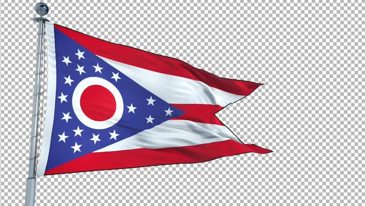 Ohio Flag: Stock Motion Graphics