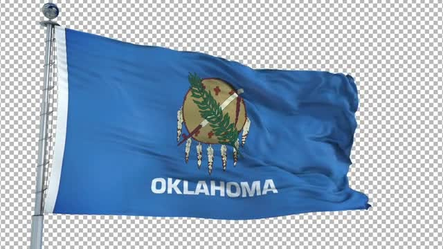 Oklahoma Flag: Stock Motion Graphics