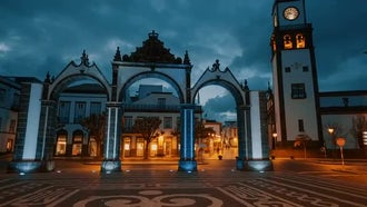 POV Of Ponta Delgada: Stock Footage