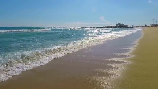 Beach Waves Slow Motion: Stock Video