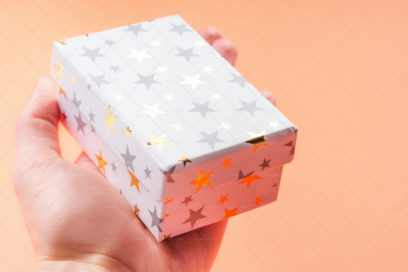 Gift Box In Hands: Stock Photos
