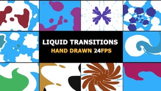 2D FX Liquid Transitions: Motion Graphics