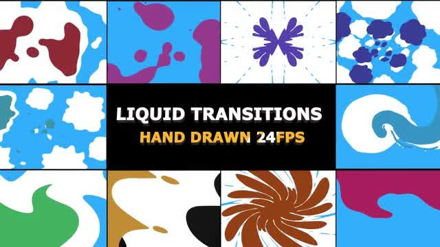 2D FX Liquid Transitions: Stock Motion Graphics
