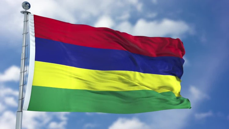 Mauritius Flag Animation: Stock Motion Graphics