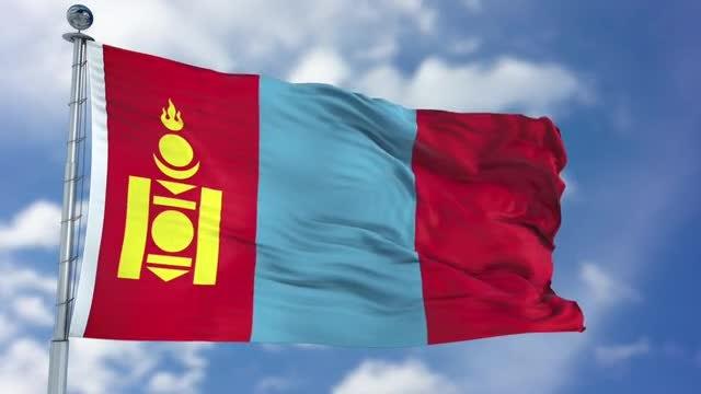 Mongolia Flag Animation: Stock Motion Graphics