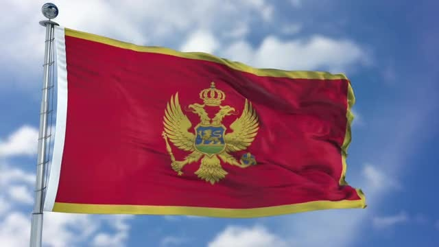 Montenegro Flag Animation: Stock Motion Graphics