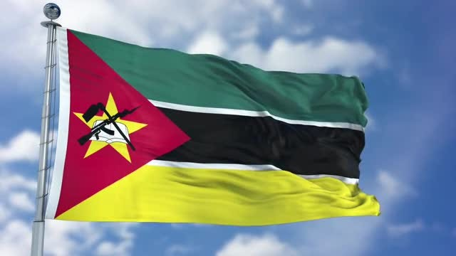 Mozambique Flag Animation: Stock Motion Graphics