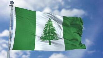 Norfolk Island Flag Animation: Motion Graphics