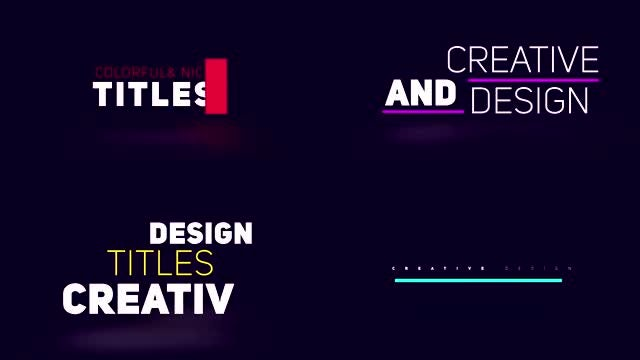 19 Minimal Titles : After Effects Templates