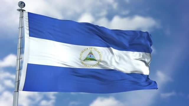 Nicaragua Flag Animation: Stock Motion Graphics
