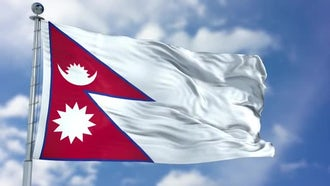 Nepal Flag: Motion Graphics