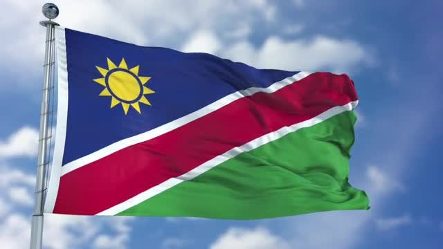 Namibia Flag Animation: Stock Motion Graphics