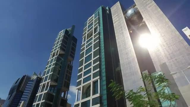 Modern Buildings In Qatar: Stock Video