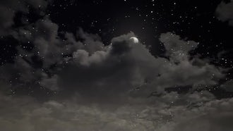 Clouds And Moon: Motion Graphics