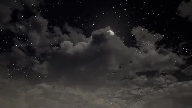 Clouds And Moon: Stock Motion Graphics