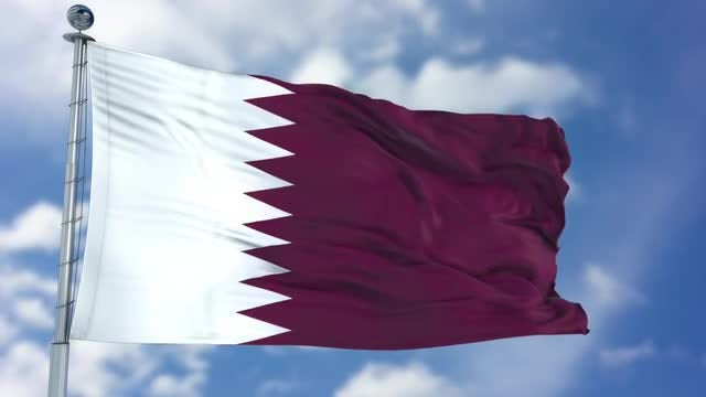 Qatar Flag Animation: Stock Motion Graphics