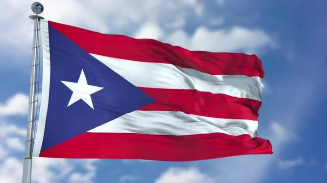 Puerto Rico Flag Animation: Stock Motion Graphics