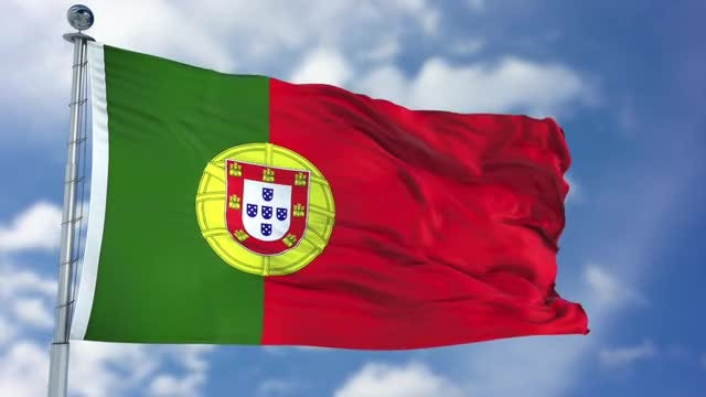 Portugal Flag Animation: Stock Motion Graphics